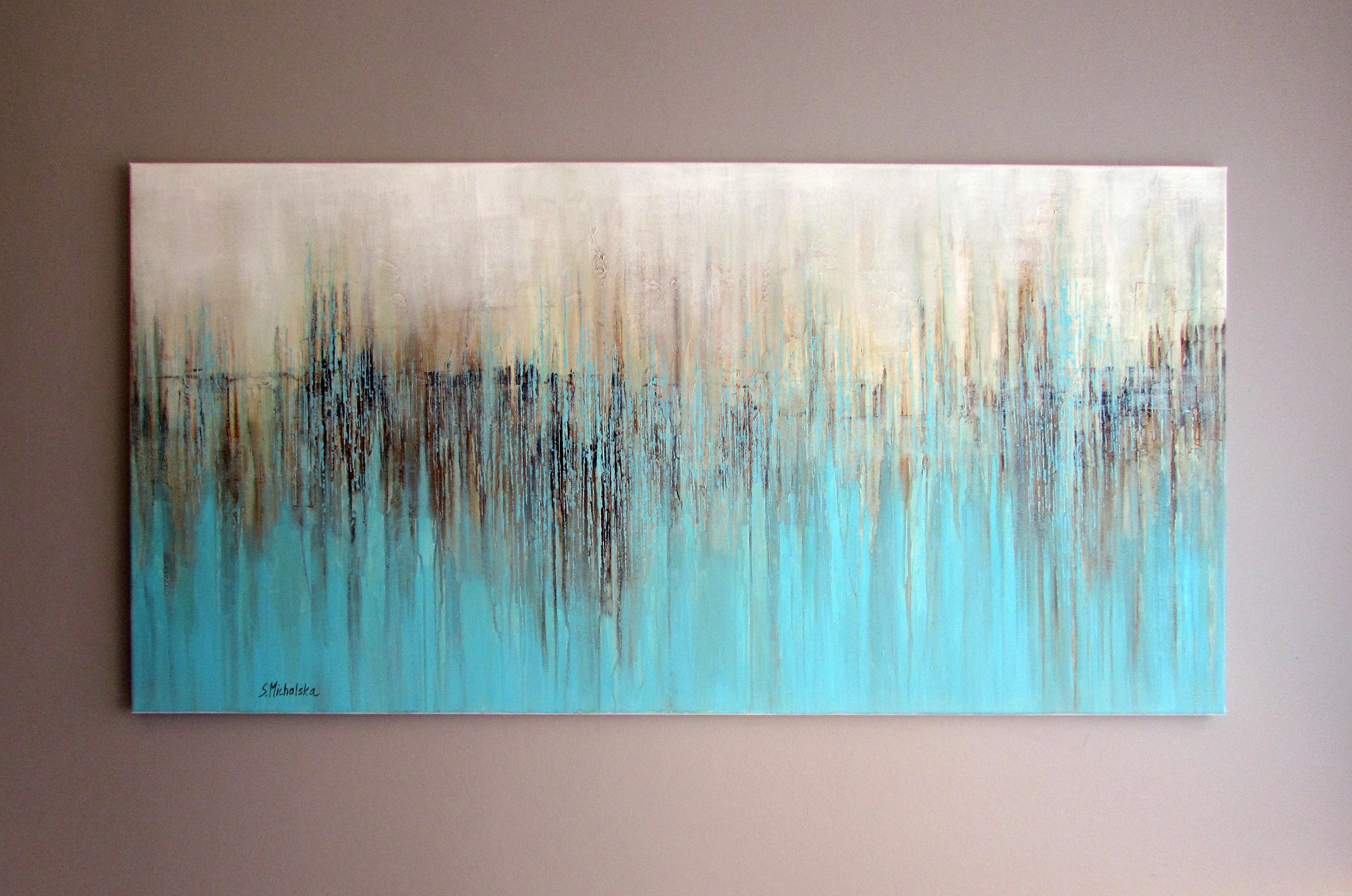 Obrazy Abstrakcyjne Do Salonu Malarstwo Autorskie Sylwia Michalska