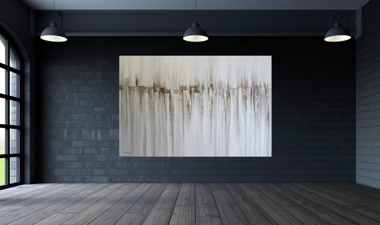 obrazy abstrakcyjne wizualizacja wnętrza