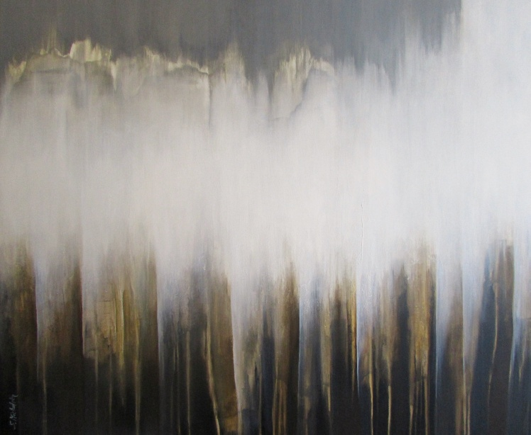 """""""Burza odchodzi"""" abstrakcja 43 sylwia michalska 100x120cm"""
