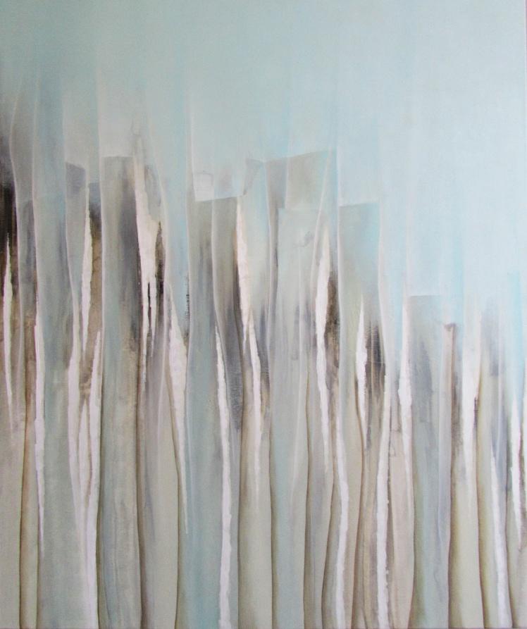 """Jak drapacze chmur"" abstrakcja 44 sylwia michalska 120x100cm"