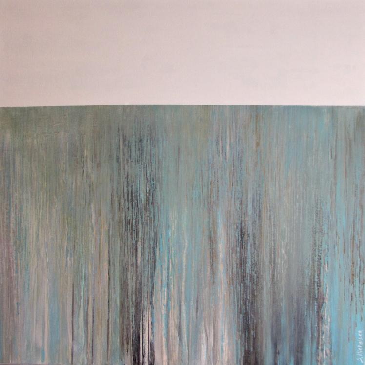 """""""Wodospady"""" abstrakcja 34 sylwia michalska 80x80cm"""