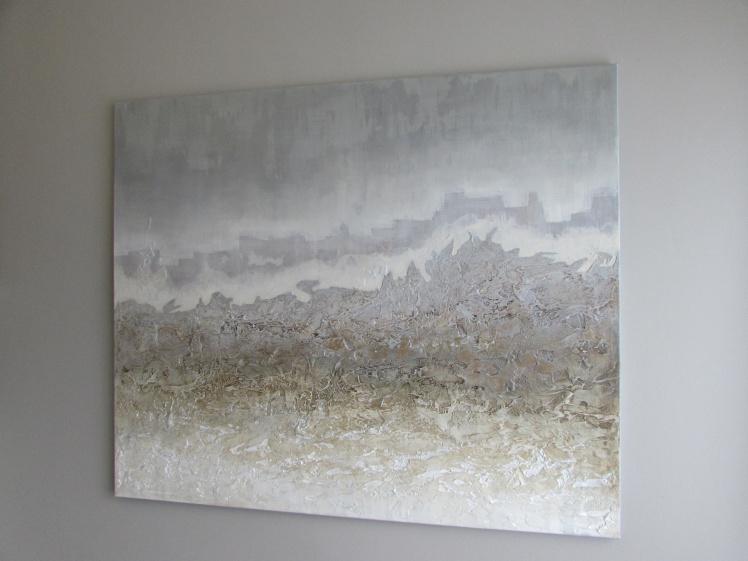 """""""Pejzaż księżycowy"""" abstrakcja 56 sylwia michalska 120x100cm"""