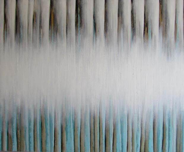 """Mgła"" abstrakcja 51 sylwia michalska 120x100cm"