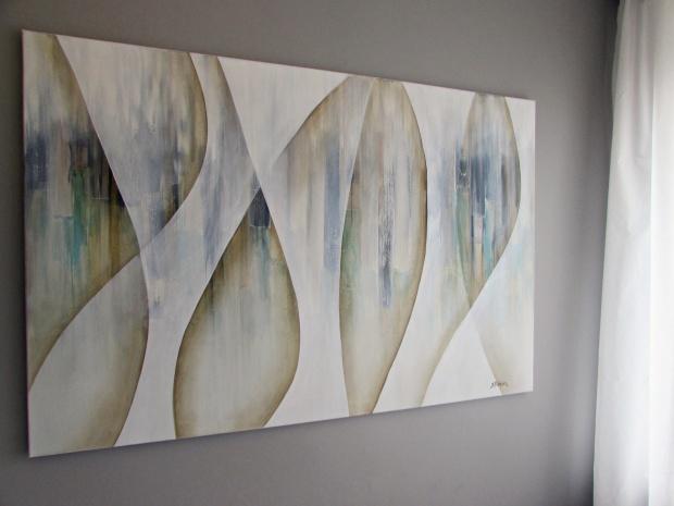 """""""Z perspektywy"""" abstrakcja 52 sylwia michalska 150x100cm"""
