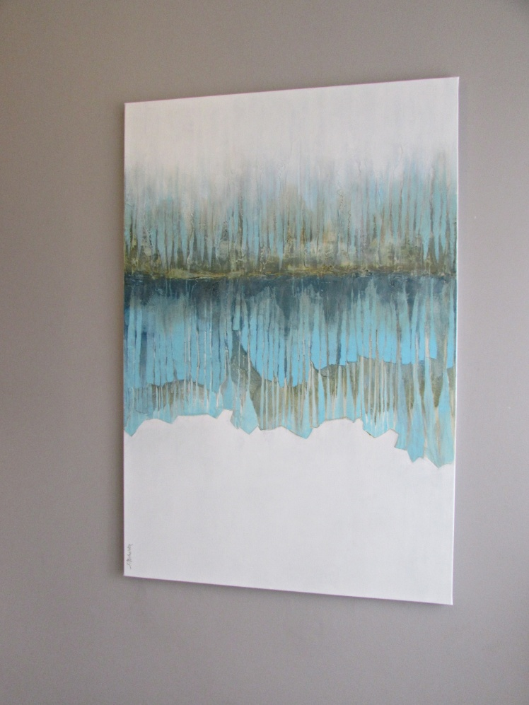"""""""W głębi lasu"""" abstrakcja 53 sylwia michalska 80x120cm"""