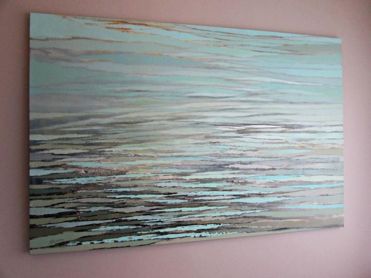 """Jezioro"" abstrakcja 62 sylwia michalska 150x100cm"