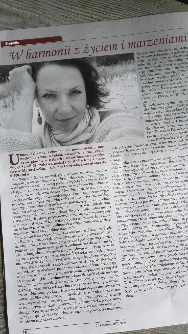 Wywiad - Pasja, miłość, życie - Sylwia Michalska