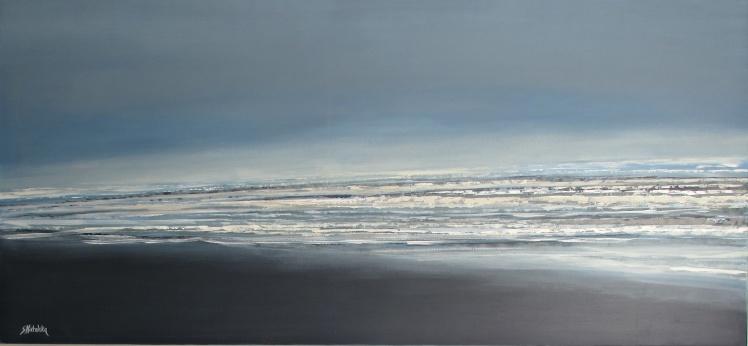 """Moje morze"" abstrakcja 65 sylwia michalska 70x150cm"