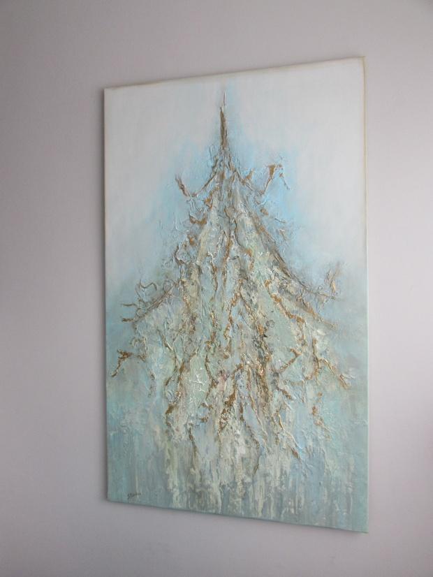 """""""Złote myśli"""" obraz 66 sylwia michalska 150x90cm"""
