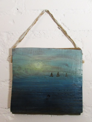 20x21cm obraz na desce marynistyka sylwia michalska 67