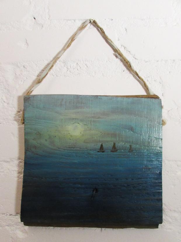 obrazy olejne marynistyka na starych deskach