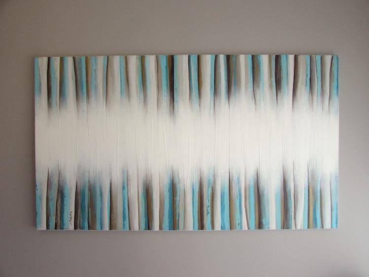 """Mgła II"" abstrakcja 68 sylwia michalska 80x140cm"