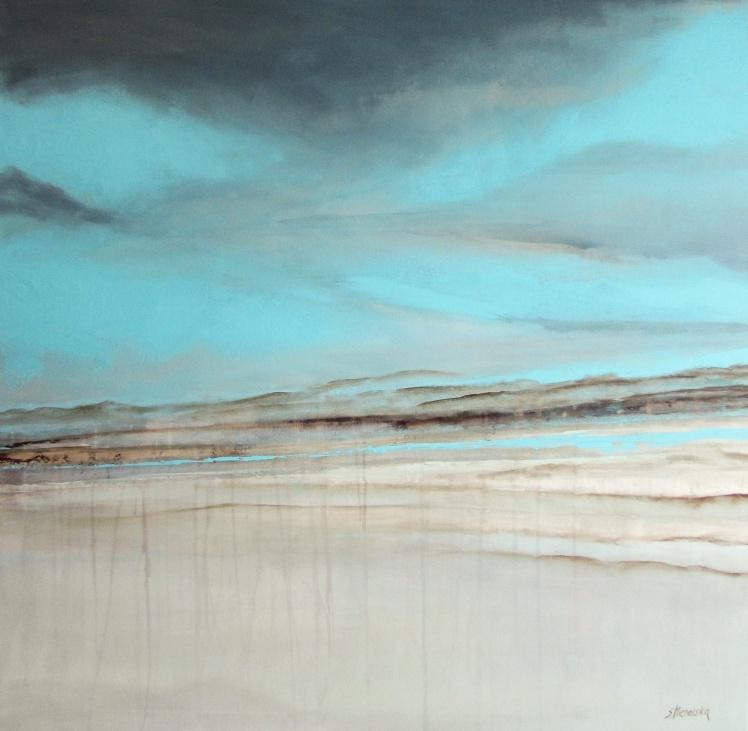 """""""W chmurach"""" obraz 70 sylwia michalska 100x100cm"""