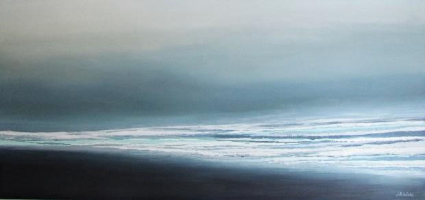 """""""Moje morze II""""abstrakcja 75 sylwia michalska 60x150cm"""