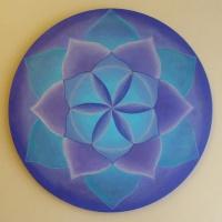 Mandala - kwiat życia. Obraz na płótnie.