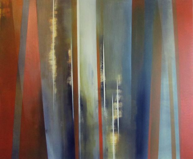 """""""Przerywana linia spontaniczności"""" abstrakcja 78 sylwia michalska 100x120cm"""