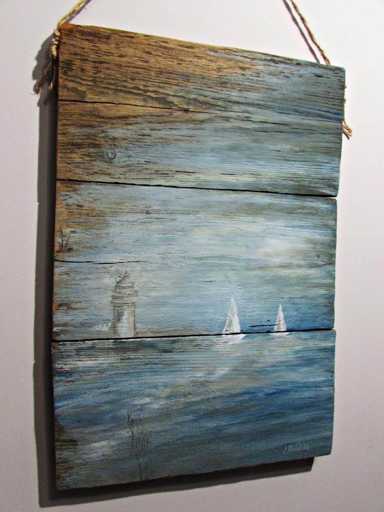obraz olejny na desce marynistyka 79 sylwia michalska 40x57cm