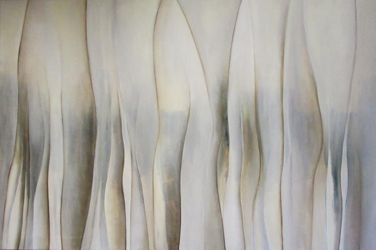 """""""Tajemnicze filary"""" abstrakcja 83 sylwia michalska 80x120cm"""
