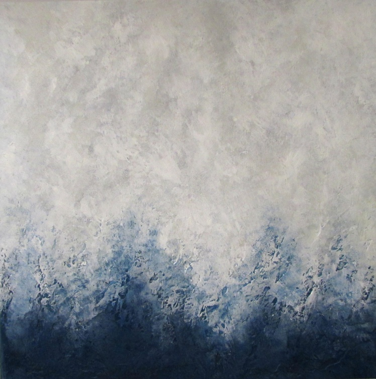 """""""Zimowy"""" abstrakcja 90 sylwia michalska 70x70cm"""