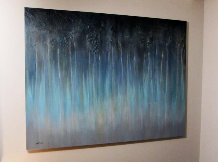 """""""Pojawisz się"""" abstrakcja 96 sylwia michalska 100x130cm"""