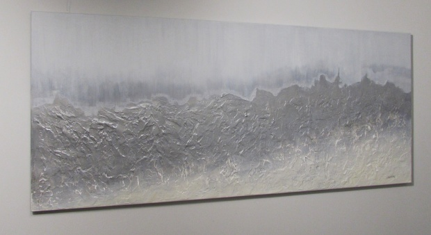 """Katartyczny ląd"" abstrakcja 97 sylwia michalska 70x160cm"
