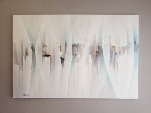 """""""Blaski, a potem cienie"""" abstrakcja 103 sylwia michalska 80x120cm"""