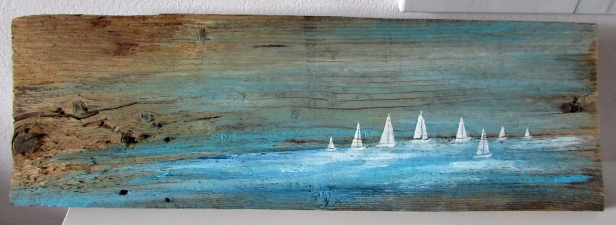 olejny obraz marynistyczny na desce 83 sylwia michalska 23x70cm