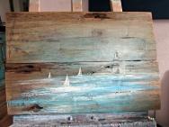 obraz olejny na desce marynistyka 86 sylwia michalska 40x60cm