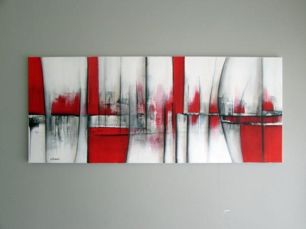 obrazy abstrakcyjne sylwia michalska czerwień