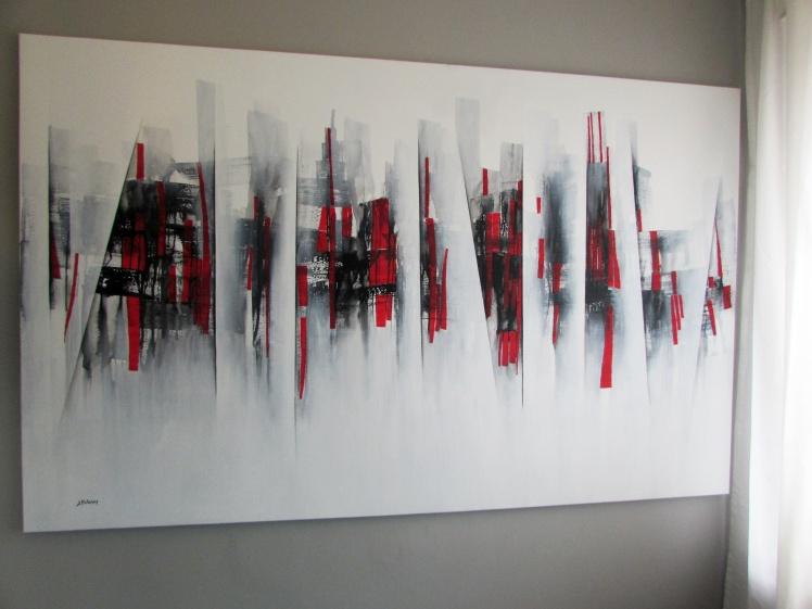 """""""Kiedy opadnie londyńska mgła"""" abstrakcja 110 sylwia michalska 125x200cm"""