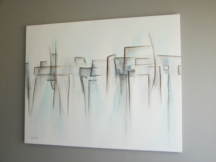 """""""Labirynt uczuć"""" abstrakcja 111 80x100cm"""