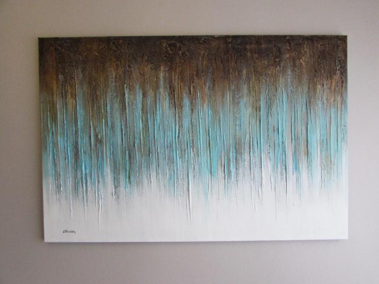 """""""Turkusowy las"""" abstrakcja 118 sylwia michalska 80x120cm"""