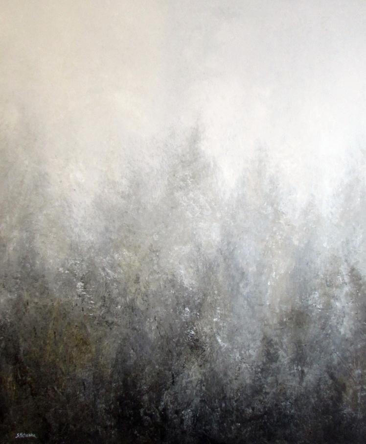 """Mglisty"" abstrakcja 120 sylwia michalska 120x100cm"