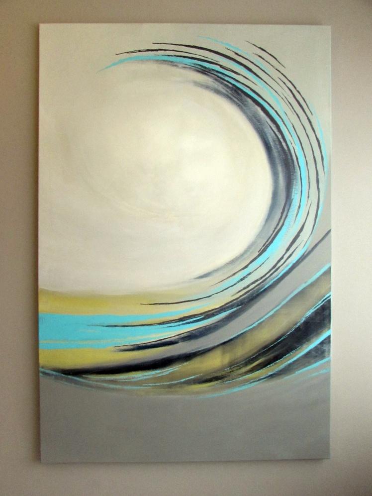 """Spiralny"" abstrakcja 121 sylwia michalska 150x100cm"
