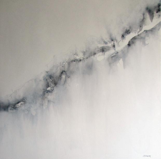 """Delikatność duszy"" abstrakcja 124 sylwia michalska 80x80cm"