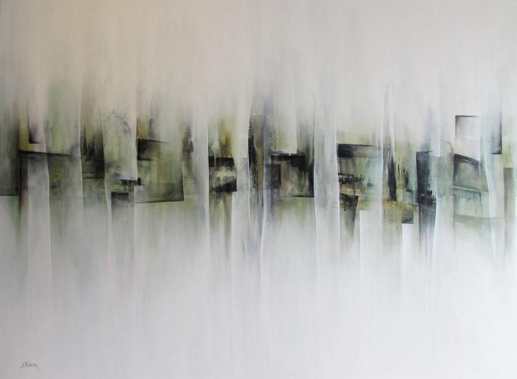 """""""To opowieść o moich podróżach"""" abstrakcja 126 sylwia michalska 110x150cm"""