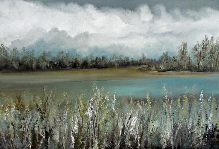 obrazy olejne pejzaż 104 sylwia michalska 45x65cm