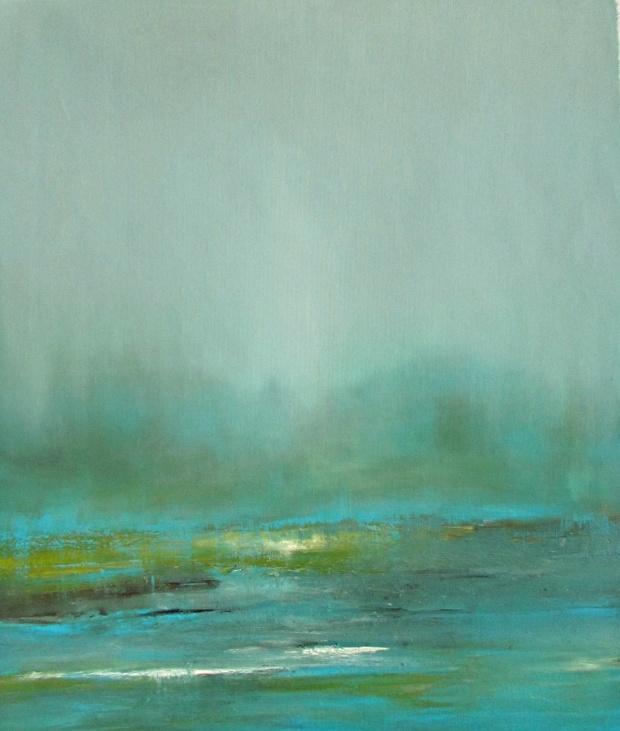 pejzaż abstrakcyjny obraz olejny 105 sylwia michalska 65x55cm