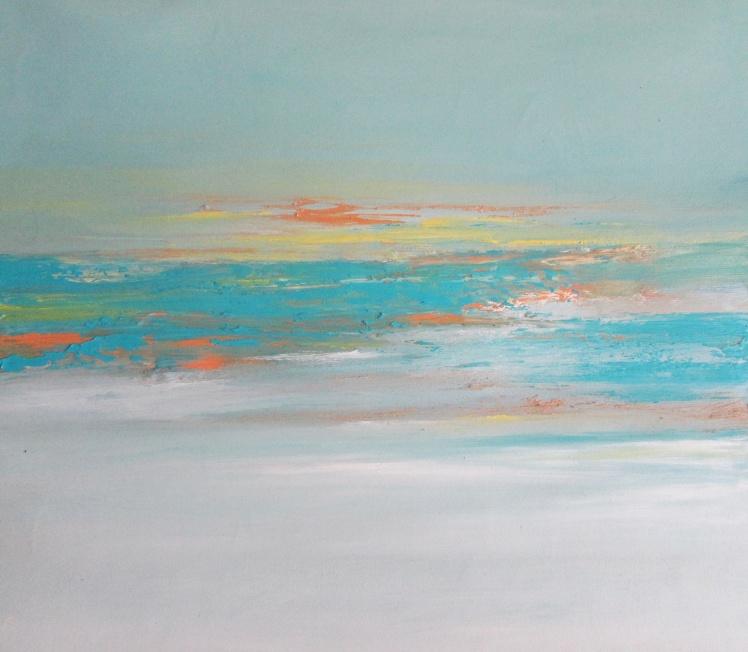 obraz olejny 100 pejzaż abstrakcyjny 37x40cm sylwia michalska