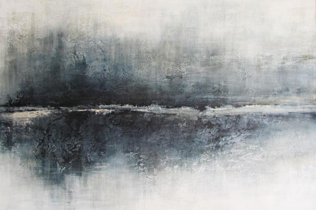 """Szary świat"" abstrakcja 132 sylwia michalska 100x150cm"