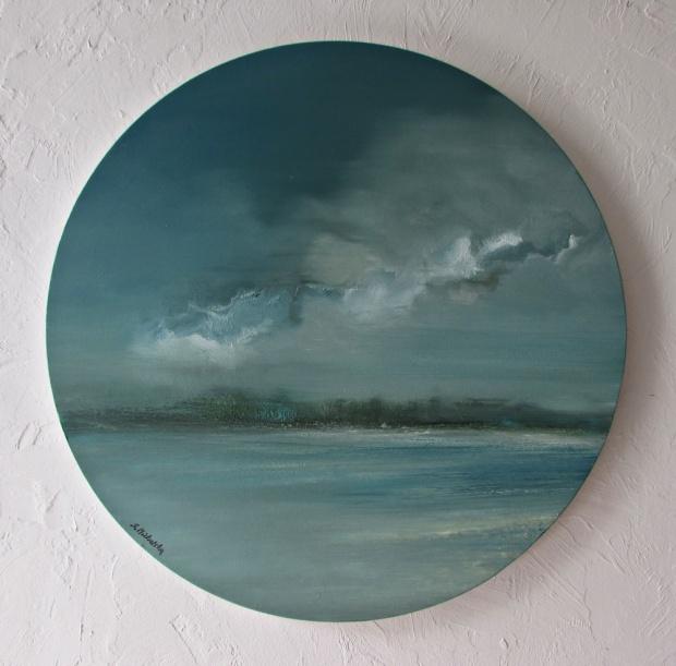 DOSTĘPNY 50cm obraz olejny marynistyka 113 sylwia michalska