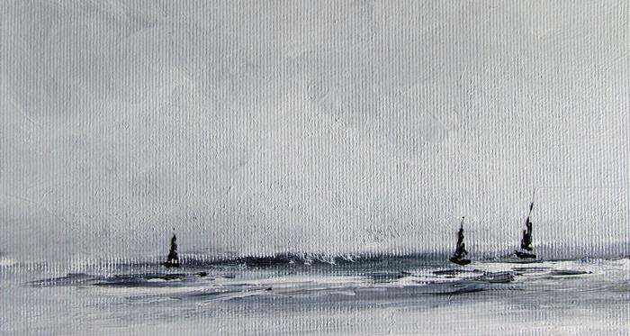 obraz olejny marynistyka 122 sylwia michalska ok.10x15cm