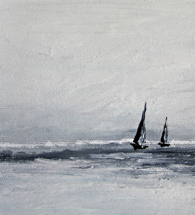 obraz olejny marynistyka 123 sylwia michalska ok.10x10cm