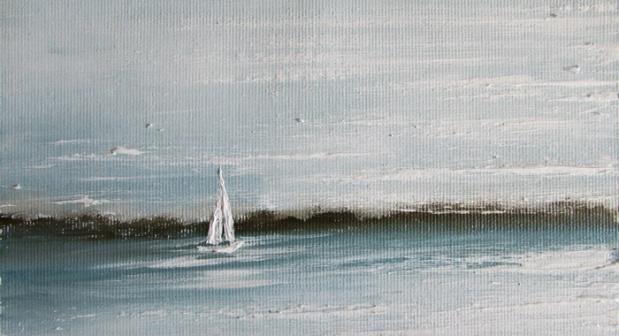 obraz olejny marynistyka 124 sylwia michalska ok.10x15cm