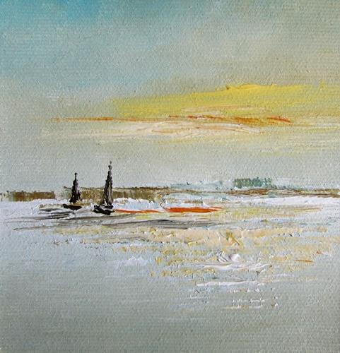 obraz olejny marynistyka 126 sylwia michalska ok.10x10cm