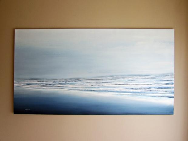 """Bryza"" pejzaż morski 135 sylwia michalska 80x150cm"