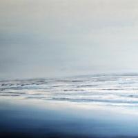 Pejzaż morski w błękitach - styl hampton