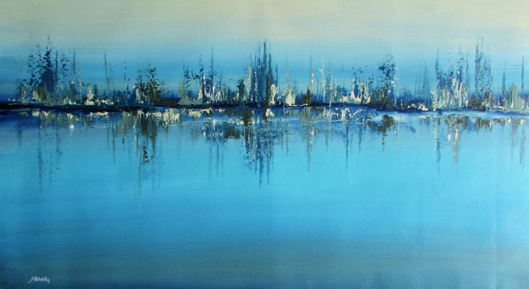 """""""Port nocą"""" obraz olejny marynistyka 136 50x90cm  sylwia michalska"""