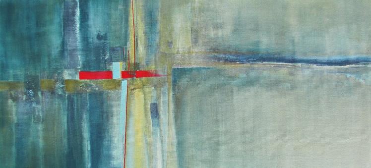 """""""Chaos za mną. A przede mną?"""" abstrakcja 141 sylwia michalska 60x130cm"""