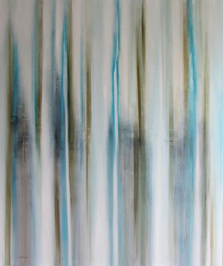 """""""Między drzewami"""" abstrakcja 140 sylwia michalska 120x100cm"""